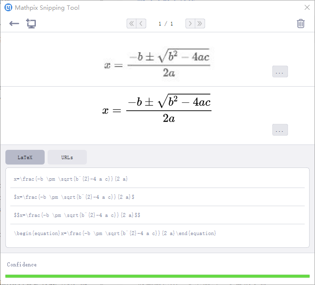 Mathpix Snip截图识别示例