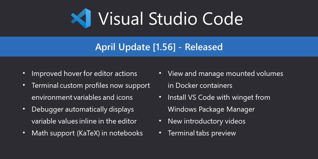 VS Code四月份版本更新内容